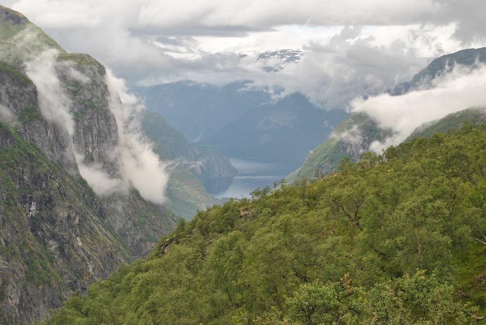 Blick zum Eidfjordsee