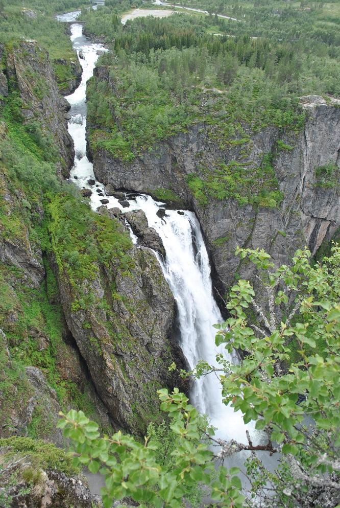 Der Vöringsfoss (182 Meter hoch)