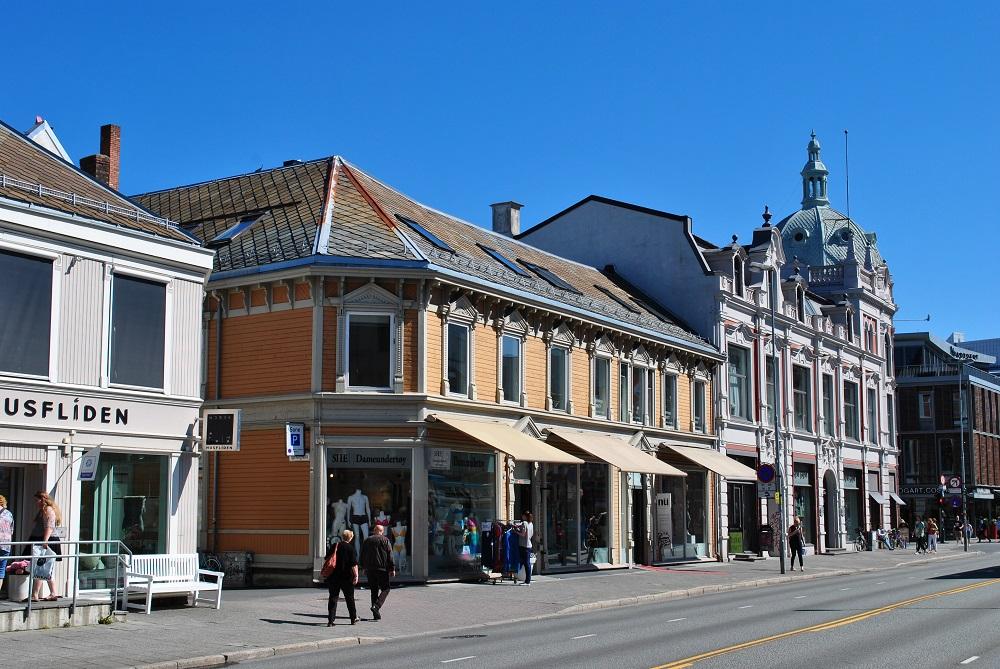 Einkaufsstraße in Trondheim