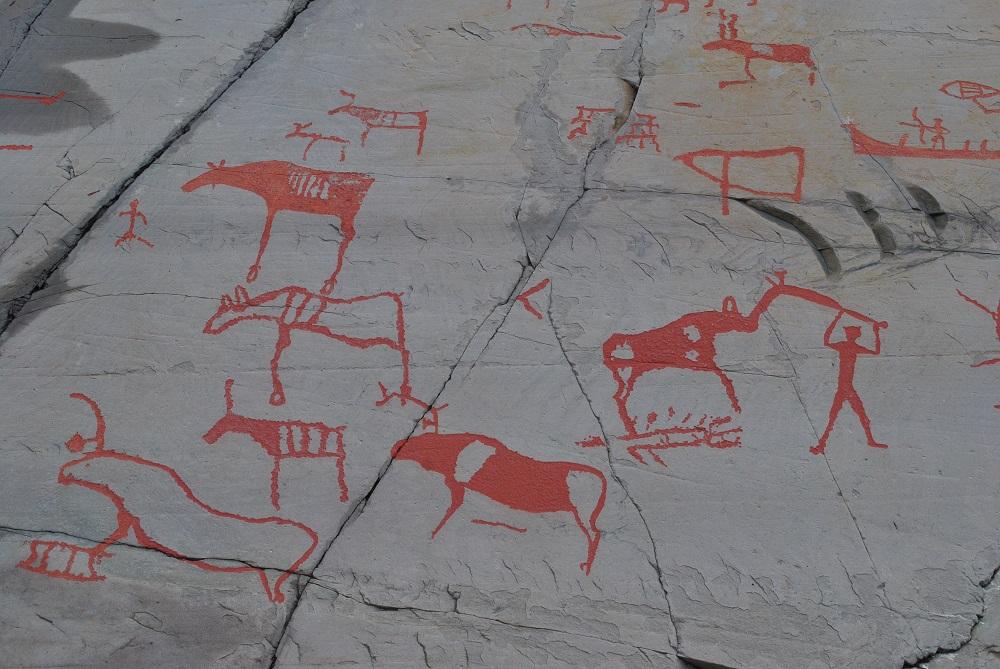 Steinzeitliche Felsbilder bei Alta