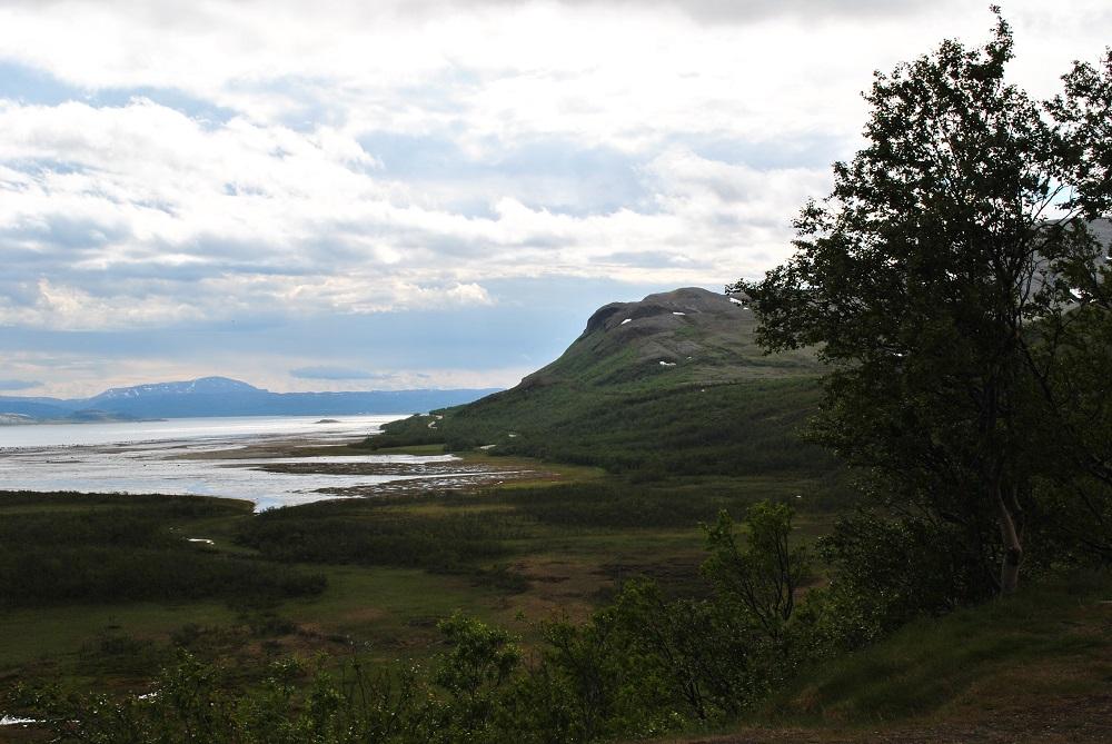 Blick auf den Porsanger Fjord