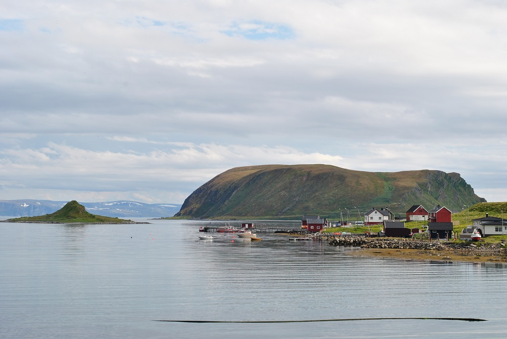 Blick auf Sames auf dem Weg zum Nordkap
