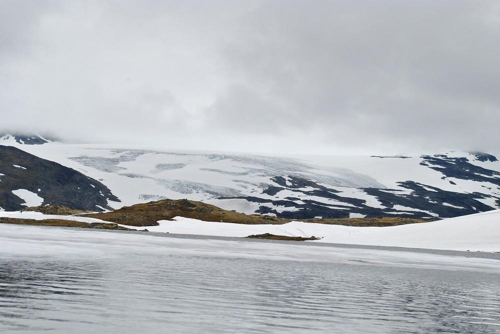 Das Skigebiet um die Sognefjellhütte im Juli