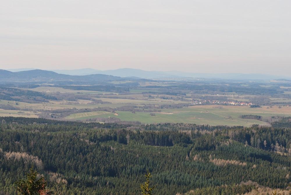 Blick vom Mandelstein Richtung Tschechien